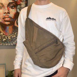 Brown AmeriBag Crossbody Canvas Back Bag